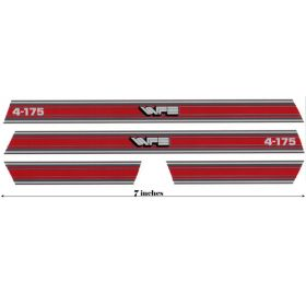 Decal 1/16 White 4-175 Red Hood & Cab Stripes