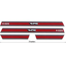 Decal 1/16 White 4-225 Red Hood & Cab Stripes