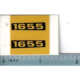 Decal 1/16 Oliver 1655 Model Numbers