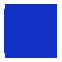 Decal White, White Logo 1in.