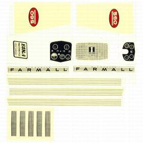 Decal Farmall 560 Pedal Tractor Decal set Water Transfer