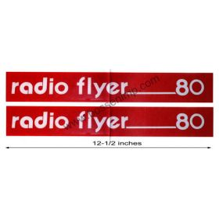 Decal Radio Flyer 80 Wagon (Pair)