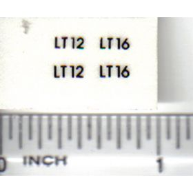 Decal 1/16 Snapper LT12, LT16 Model Numbers