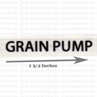 Decal Grain Pump 1.75 inch