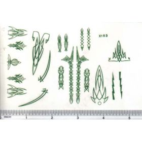 Decal Pin Stripe Set - Green large