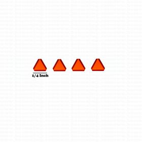 Decal SMV Slow Moving Vehicle 1/64 set of 4