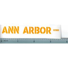 Decal 1/16 Ann Arbor Large