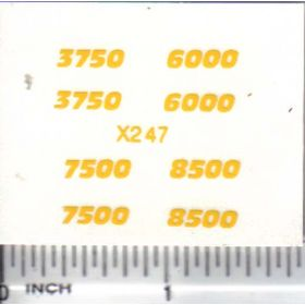 Decal 1/64 Balzer Numbers Set