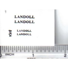 Decal 1/64 Landoll - Black on Clear