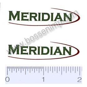 Decal 1/64 Meridian Set of 2