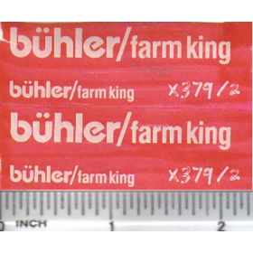 Decal 1/16 Buhler/Farm King Set