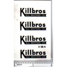 Decal 1/16 Killbros - Black