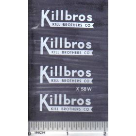 Decal 1/16 Killbros - White