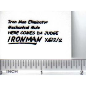 Decal 1/64 Iron Man Eliminator - Black