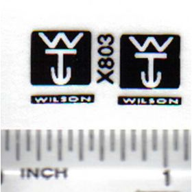 Decal 1/64 Wilson Trailer Company - Black, White