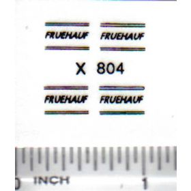 Decal 1/64 Fruehauf - Black