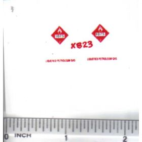 Decal 1/64 Hazard - 1075