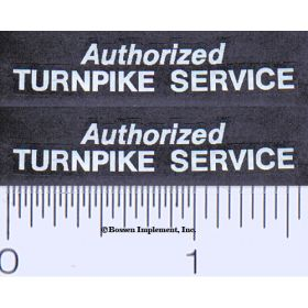 Decal 1/16 Authorized Turnpike Service