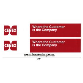 Decal Cenex, Red, White (pair) 10 in.