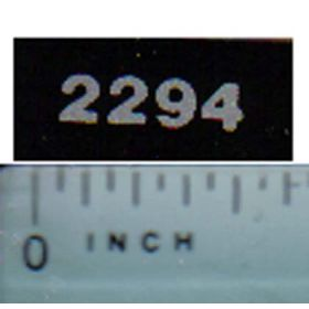 Decal 1/16 Case IH 2294 Model Numbers (silver on black)