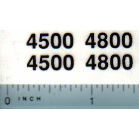 Decal 1/16 Case 4500, 4800 Model Numbers