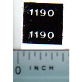 Decal 1/32 Case 1190 Model Numbers