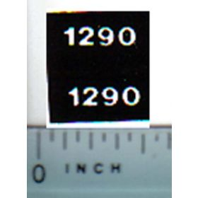 Decal 1/32 Case 1290 Model Numbers