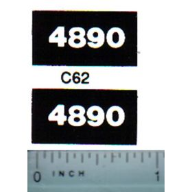 Decal 1/16 Case 4890 Model Numbers