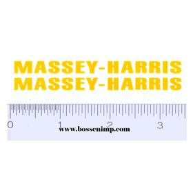 Decal Massey Harris (yellow) pair