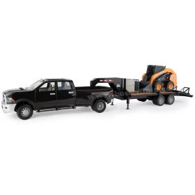 1/16 Big Farm Dodge Ram 3500 Pickup with trailer & Case Uni Loader