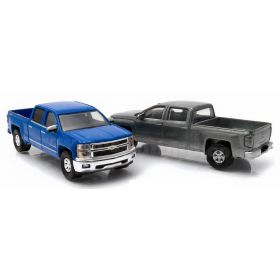 1/64 Chevrolet Silverado 2014 blue with unpainted model 1st Cut