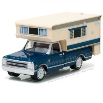 1/64 Chevrolet Pickup C-10 1968 w/ Large Camper