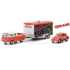 1/64 Volkswagon Double cab pickup 1972 with Enclosed Car Hauler and 1967 Volkswagen Beetle