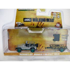 1/64 Jeep Wrangler YJ with utility trailer Chase Unit