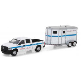 1/64 Dodge Ram 2500 Pickup 2017 with Police Horse Trailer