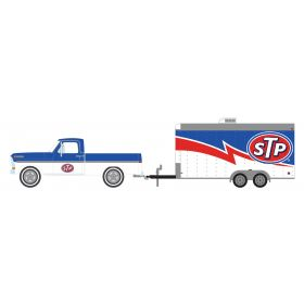 1/64 Ford F-100 Pickup 1970 with STP Trailer 12
