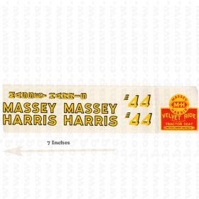 Decal Massey Harris 44 Velvet Ride small Pedal Tractor Water Transfer