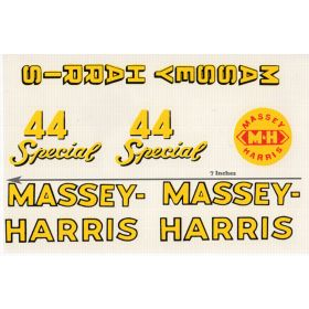Decal Massey Harris 44 Special large Pedal Tractor Water Transfer