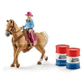 1/16 Horse Barrel Racer with cowgirl