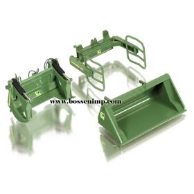 1/32 Loader Attachments Set w/high tip bucket green