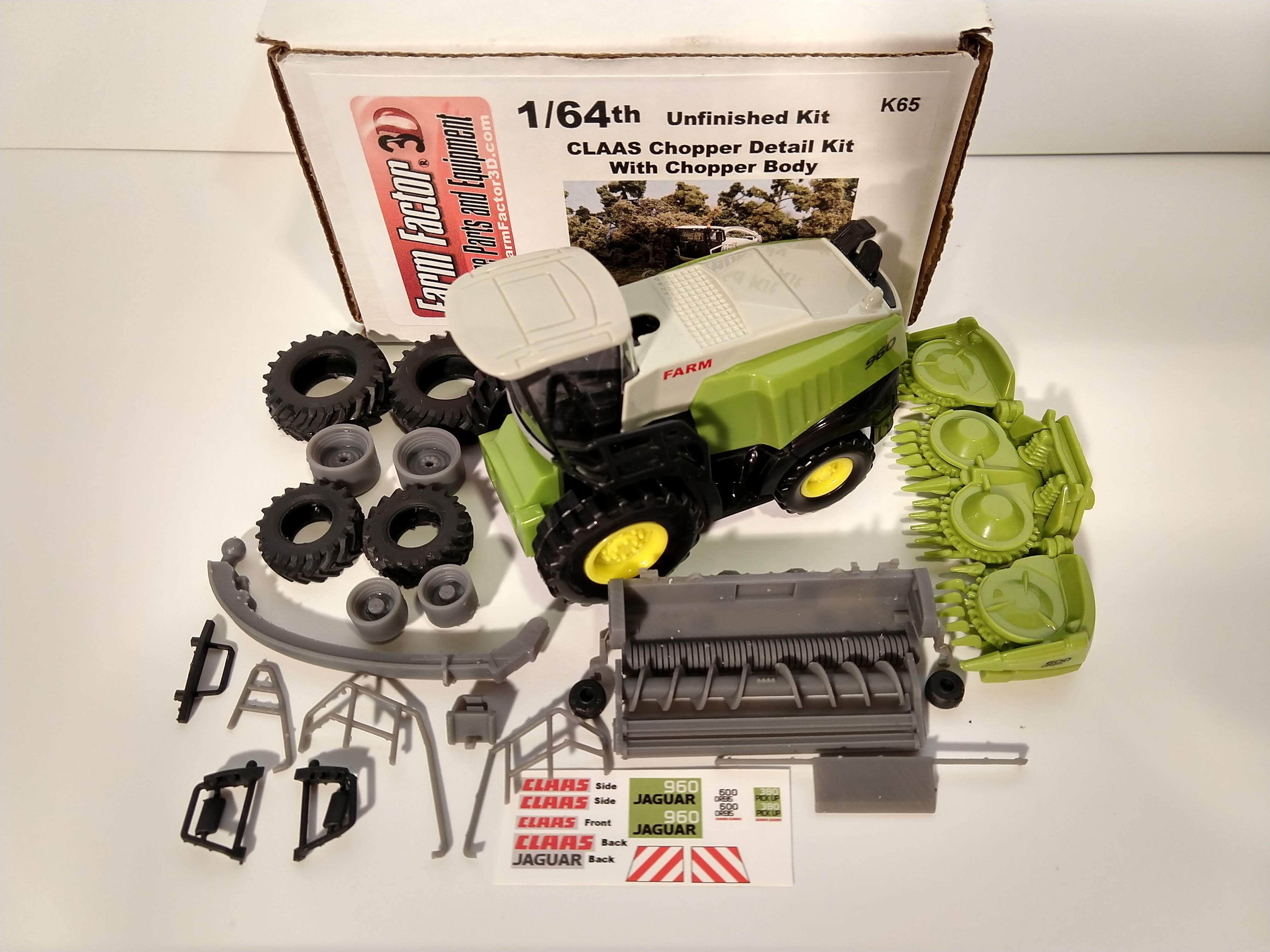 ba13d6e8 1/64 Claas Forage Harvester 960 Kit 3D Printed