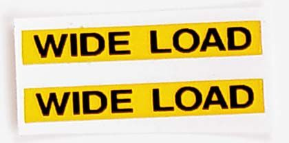 Wide Load Sign >> Decal 1 64 Wide Load Sign