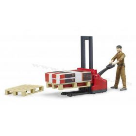 1/16 UPS worker with forklift and accessories