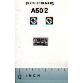 Decal 1/64 Allis Chalmers All-Crop Combine Set (black)