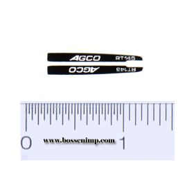 Decal 1/64 AGCO RT145 Hood Stripes (pair)