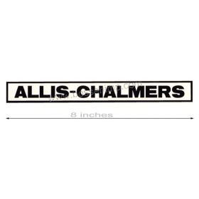 Decal Allis Chalmers late version for pedal trailer