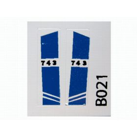 Decal 1/50 Bobcat 743 side panels