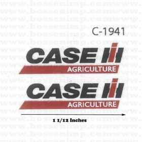 Case ih decals oem brand decals decal case ih logo ag 1 12 inches blackred sciox Choice Image