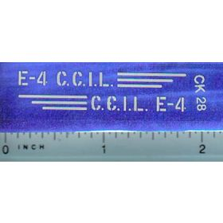 Decal 1/16 C.C.I.L. E-4