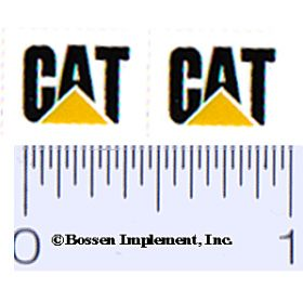 Decal CAT Logo (black, yellow traiangle)